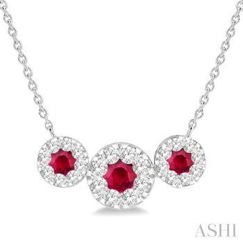 Gemstone & Diamond Necklace